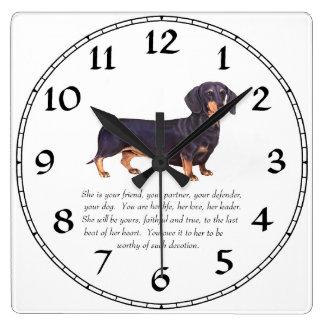 Recuerdo del Dachshund - hembra Relojes