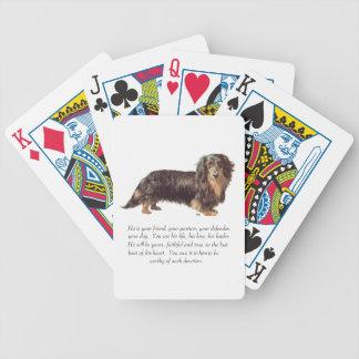 Recuerdo del Dachshund - varón Baraja Cartas De Poker