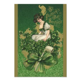 """Recuerdo del día de St Patrick del vintage, Invitación 5"""" X 7"""""""