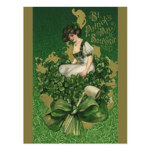 Recuerdo del día de St Patrick del vintage, Tarjeta Postal