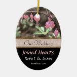 Recuerdo del favor del boda ornaments para arbol de navidad