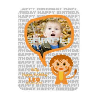 Recuerdo del feliz cumpleaños de Leo para los niño Iman Rectangular