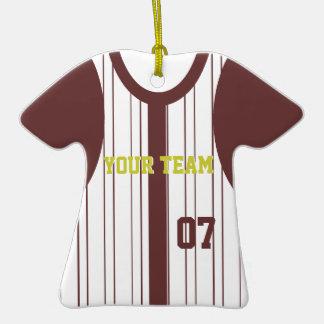 Recuerdo del jersey de béisbol con color cambiable ornatos