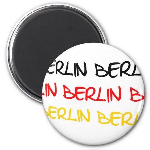 Recuerdo del logotipo de Berlín, Alemania Imanes De Nevera