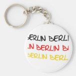 Recuerdo del logotipo de Berlín, Alemania Llavero Personalizado