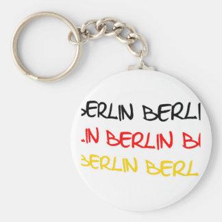 Recuerdo del logotipo de Berlín, Alemania Llavero Redondo Tipo Pin