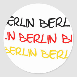 Recuerdo del logotipo de Berlín, Alemania Pegatina Redonda
