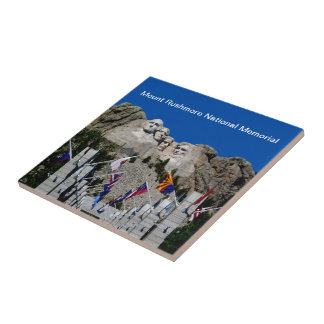 Recuerdo del monte Rushmore Dakota del Sur Azulejo Cuadrado Pequeño