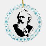 Recuerdo del navidad de la música del compositor adorno redondo de cerámica