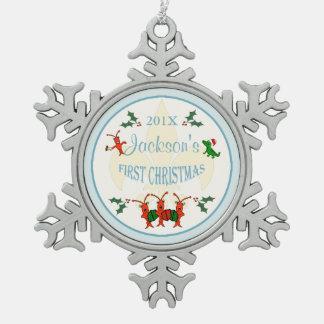 Recuerdo del navidad del bebé de Cajun primer