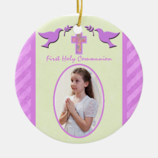 Recuerdo del ornamento de la foto de la comunión s ornamentos para reyes magos