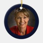 Recuerdo del ornamento del navidad de Sarah Palin Adorno Navideño Redondo De Cerámica