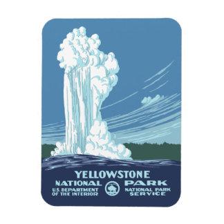 Recuerdo del parque nacional de Yellowstone Iman Rectangular