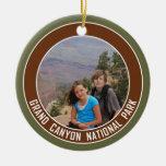 Recuerdo del parque nacional del Gran Cañón Adorno Navideño Redondo De Cerámica
