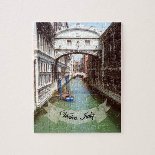 Recuerdo del puente de Venecia Italia de suspiros Puzzle