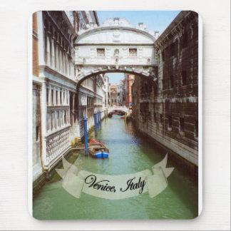 Recuerdo del puente de Venecia Italia de suspiros Tapetes De Ratón
