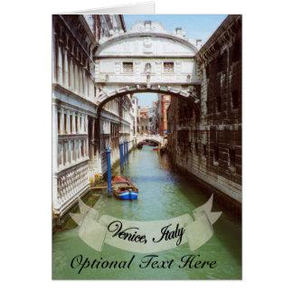 Recuerdo del puente de Venecia Italia de suspiros Tarjetón
