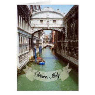 Recuerdo del puente de Venecia Italia de suspiros Felicitación