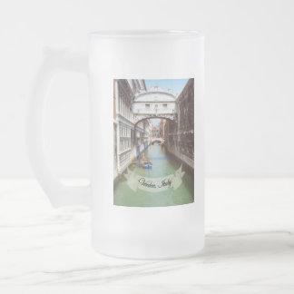 Recuerdo del puente de Venecia Italia de suspiros Tazas De Café