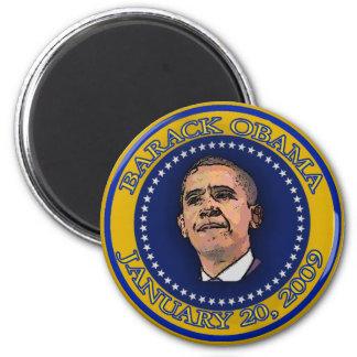 Recuerdo del sello de la inauguración de Barack Ob Imán Redondo 5 Cm