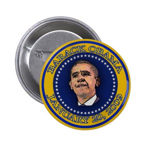 Recuerdo del sello de la inauguración de Barack Ob Pins