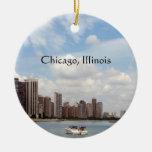 Recuerdo del verano de Chicago… Ornamentos De Navidad