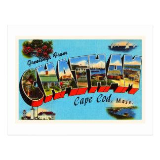 Recuerdo del viaje de Chatham Cape Cod Tarjeta Postal