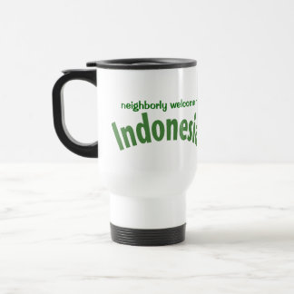 Recuerdo del viaje de Indonesia Taza De Viaje De Acero Inoxidable