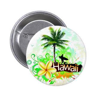 Recuerdo del viaje de las vacaciones de Hawaii Pin Redondo 5 Cm