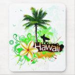 Recuerdo del viaje de las vacaciones de Hawaii Tapetes De Ratones