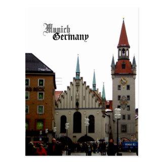 Recuerdo del viaje de Munich Alemania Postales