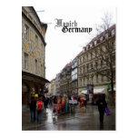 Recuerdo del viaje de Munich Alemania Tarjeta Postal