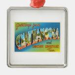 Recuerdo del viaje del vintage de Chattanooga Adorno Navideño Cuadrado De Metal