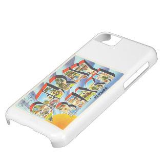 Recuerdo del viaje del vintage de Delray Beach la Funda iPhone 5C