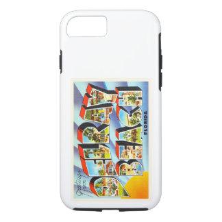 Recuerdo del viaje del vintage de Delray Beach la Funda iPhone 7
