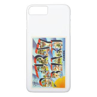Recuerdo del viaje del vintage de Delray Beach la Funda iPhone 7 Plus