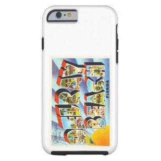 Recuerdo del viaje del vintage de Delray Beach la Funda Resistente iPhone 6