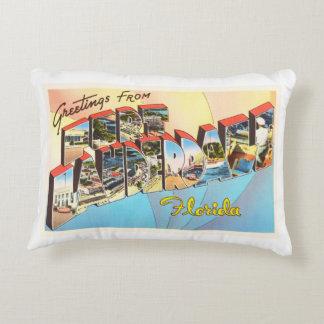 Recuerdo del viaje del vintage de la Florida FL Cojín