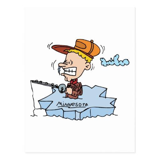 Recuerdo del viaje del vintage de la pesca del postales