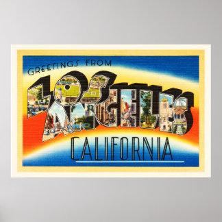 Recuerdo del viaje del vintage de Los Ángeles Póster