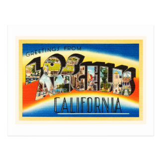 Recuerdo del viaje del vintage de Los Ángeles Tarjeta Postal