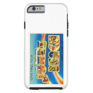 Recuerdo del viaje del vintage de Nueva York NY de Funda Para iPhone 6 Tough