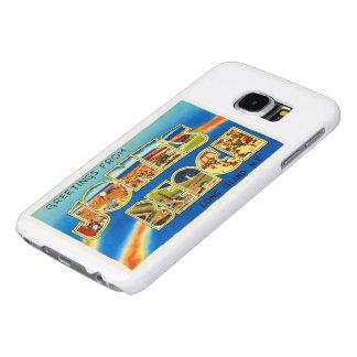 Recuerdo del viaje del vintage de Nueva York NY de Fundas Samsung Galaxy S6