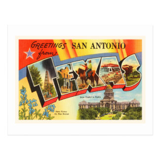 Recuerdo del viaje del vintage de San Antonio #2 Tarjeta Postal