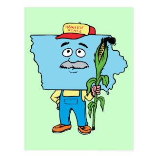 Recuerdo del viaje del vintage del maíz de Iowa IA Tarjetas Postales