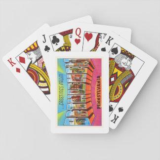 Recuerdo del viaje del vintage del PA de Belén Cartas De Póquer
