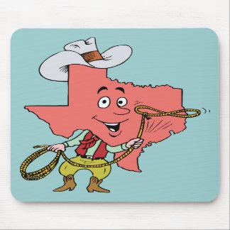 Recuerdo del viaje del vintage del vaquero del Tex Tapete De Ratones
