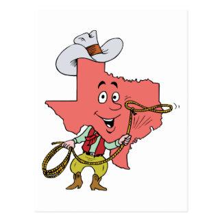 Recuerdo del viaje del vintage del vaquero del Tex Postales