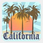 Recuerdo del vintage de California Pegatina Cuadrada