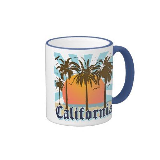 Recuerdo del vintage de California Taza De Dos Colores